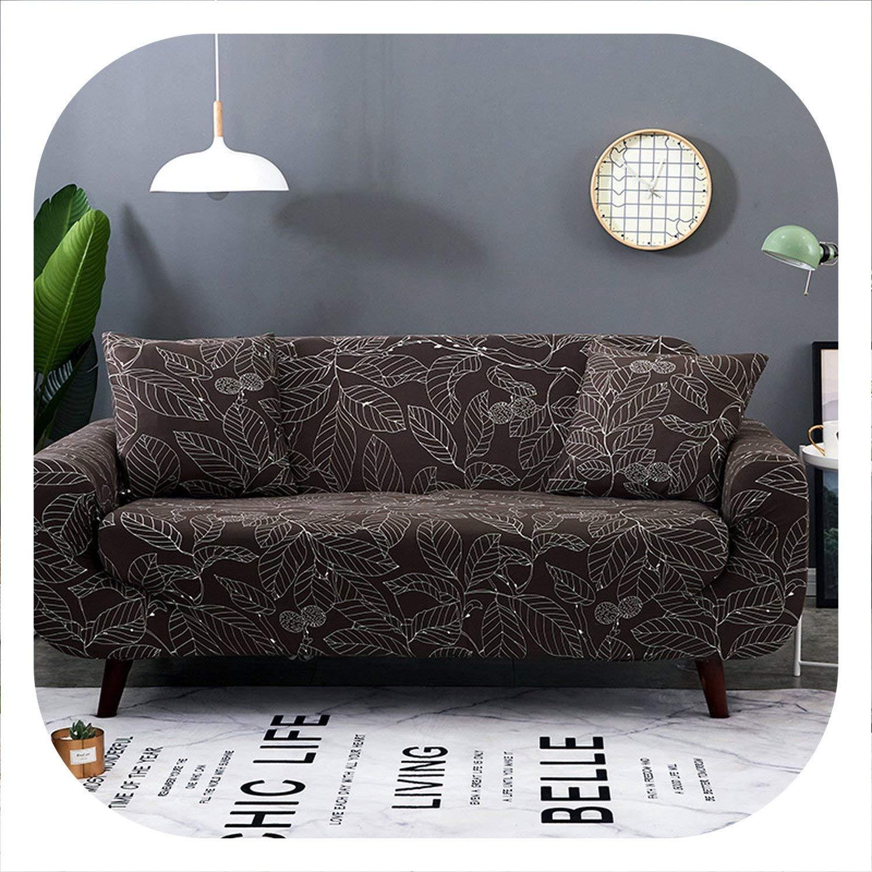 Amazon.com: Funda de sofá con forma de L color rojo peonía ...