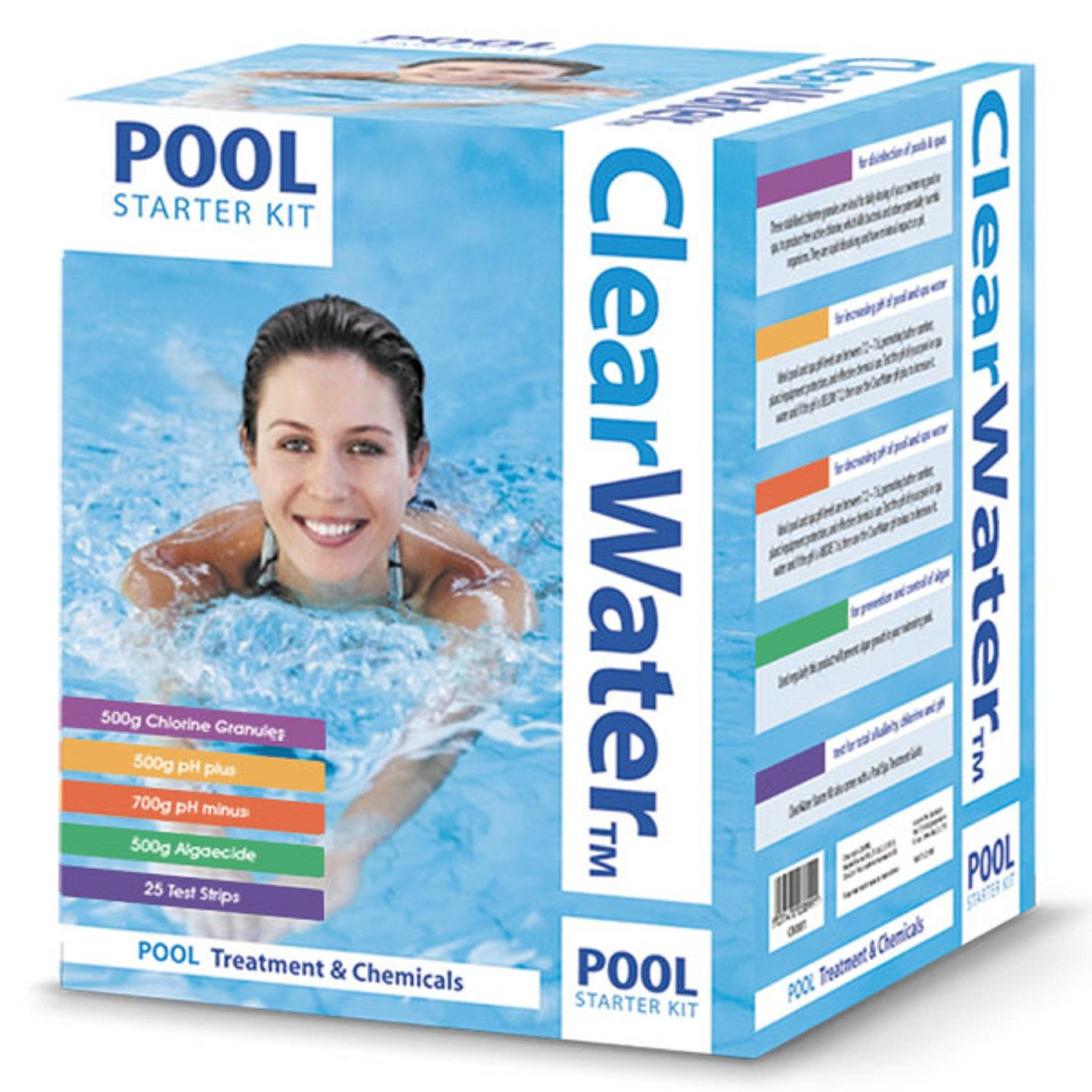 Clearwater Basic Pool Chemical Starter Set qasco