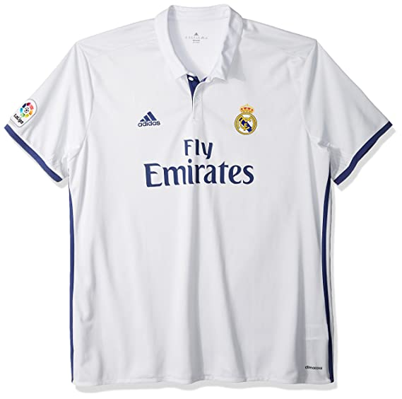 Amazon.com  Adidas Real Madrid CF Home Jersey-CRYWHT  Sports   Outdoors 773431a94