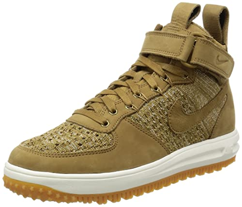 uk availability 57004 94069 Nike Lunar Force 1 Flyknit Workboot Mens Golden Beige Sail-olive Flak 8  D(M) US  Buy Online at Low Prices in India - Amazon.in