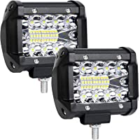 URAQT LED Faros de Trabajo, Tamaño 4 Pulgadas, 2 Pcs de Potentes Focos LED Tractor, Impermeable Focos LED Faros para…