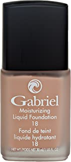 product image for Gabriel Cosmetics, Moisturizing Liquid Foundation, Natural, Paraben Free, Vegan, Gluten-free, Cruelty-free, Non GMO, Infused with Vitamins A & E, Full coverage, (Natural Beige)