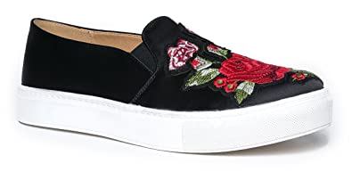 02fd83301f23d Amazon.com | Chinese Laundry Joon Embroidered Sneaker Flat | Shoes
