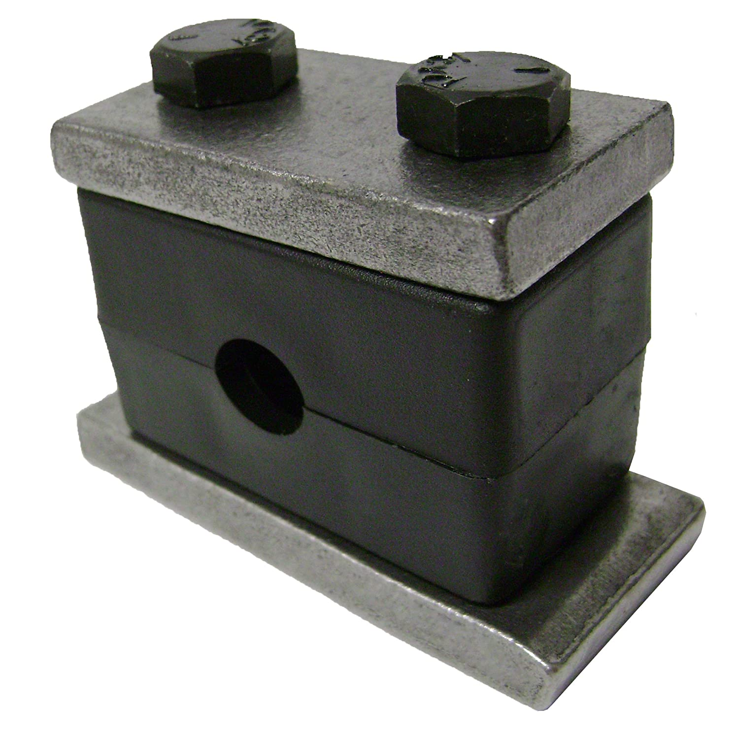 3//8 Pipe Size 3//8 Pipe Size Behringer Fluid /& Pipe Systems SH30675-PP Behringer Heavy Series Pipe Clamp Polypropylene with Plain Carbon Steel Hardware Weld Mounting