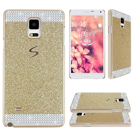 Asnlove para Samsung Galaxy Note 4 SM-N910F N910 Funda y carcasa bling con diamante rigida dura policardonato cover goma ultrafino diseño bling case ...