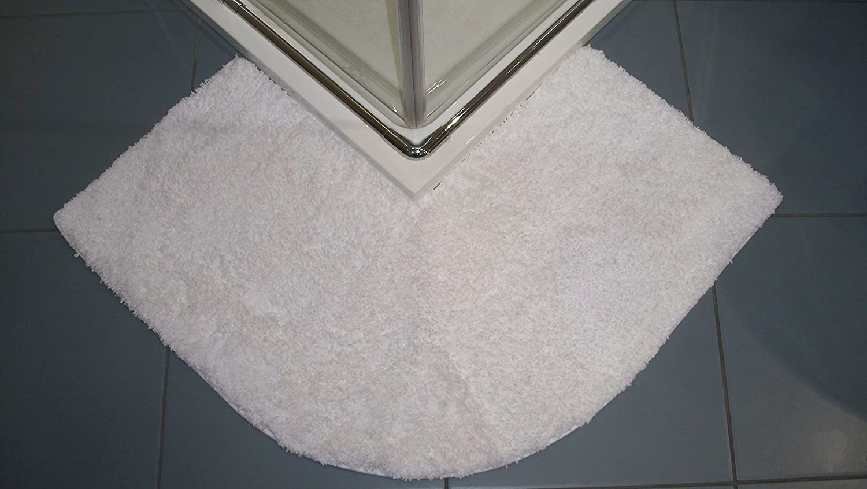 Cotone 47 x 44 x 6.5 cm Bianco Tappetino angolare per Doccia Cazsplash