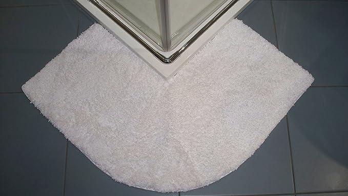 47/x 44/x 6,5/cm algod/ón Blanco Cazsplash Lujo cuadrante Esquina Alfombrilla Antideslizante para Ducha