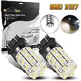Partsam Pack2 3157 3156 4114 Xenon White Daytime Running Light DRL LED 60-3528-SMD Ultra Bright Car Led For Dodge Chevrolet