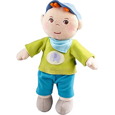 "HABA Snug up Jonas - 11.5"" Soft Boy Baby Doll with Embroidered Face - Machine Washable for Babies 6 Months +: Toys & Games"