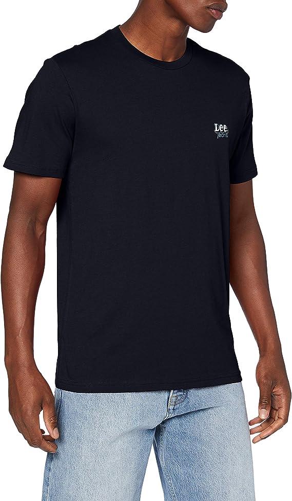 TALLA M. Lee SS Small Logo tee Camiseta para Hombre