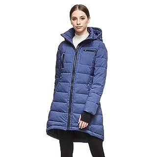 Orolay Women's Down Jacket Coat Mid-Length Blue 2XL