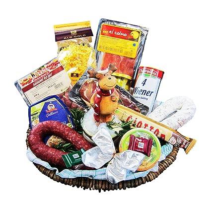 Weihnachtsgeschenke Lebensmittel.Weihnachtsgeschenk Korb Der Moderne Präsentkorb Zu Weihnachten Geschenkkorb Gefüllt Mit Vielen Delikatessen Weihnachtsgeschenke Von