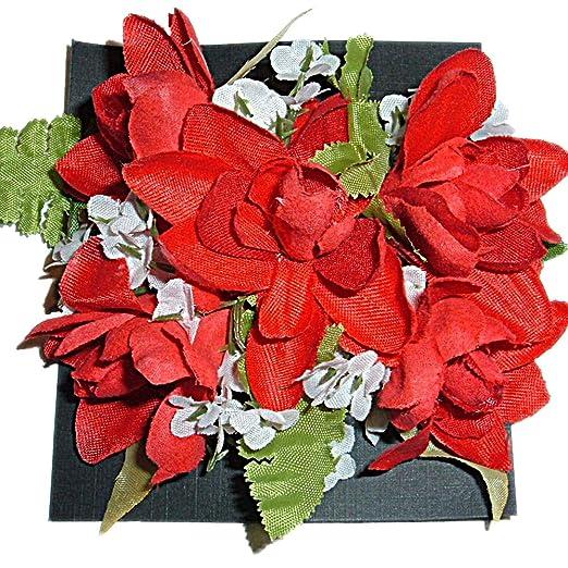 Amazon Hawaiian Silk Red Tuberose Flowers Hair Clip Clothing