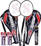 Silver's Pro-170 Marvel Plus PVC Grips Badminton Racquet Set