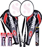 Silver's Pro-170 2 Racquets plus 1 Box S/C Marvel plus 2 PVC Grips Badminton Racquet (Racquet color may vary)