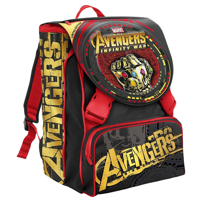 Zaino Sdoppiabile Avengers Limited edition+astuccio tre zip+personaggio Marvel