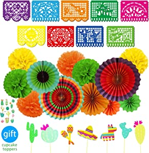 Mexican Fiesta Party Supplies Festival Decorations Kit Mexico Theme Party Decor Set for Festivals, Birthday, Taco