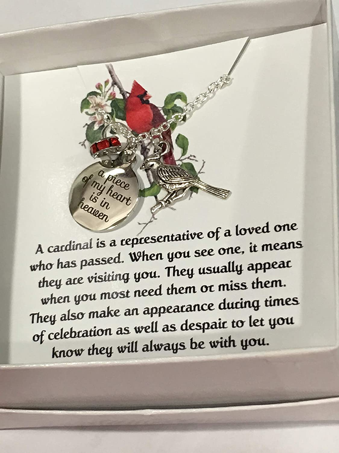 Jewelry For Women Bereavement Necklace For Loss Of Father Mother Cardinal Memorial Gifts Memory
