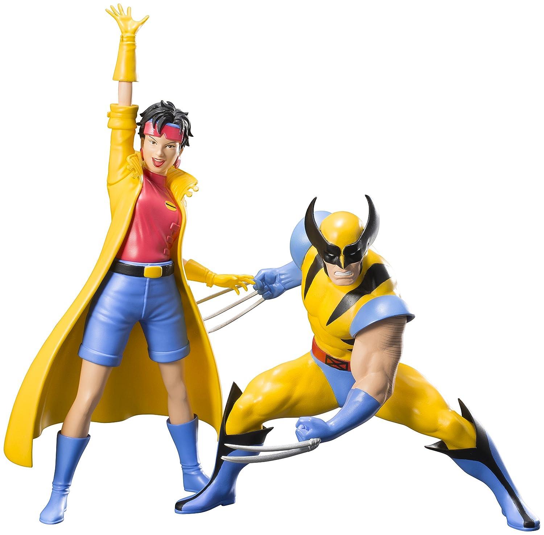 Amazon.com: Kotobukiya Marvel Universe X‐Men '92 Wolverine & Jubilee Two Pack: Toys & Games