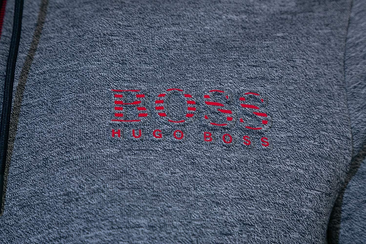 BOSS Saggy Sweat Top in Navy Marle /& Red