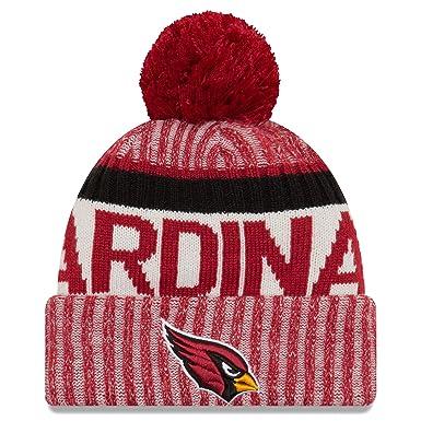 51a421c9eeb42 New Era Men s Arizona Cardinals New Era NFL 17 On Field Sport Knit Bobble  Hat  Amazon.co.uk  Sports   Outdoors
