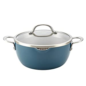 Ayesha Curry 10564 Home Collection Straining Casserole 5.5 quart Twilight Teal