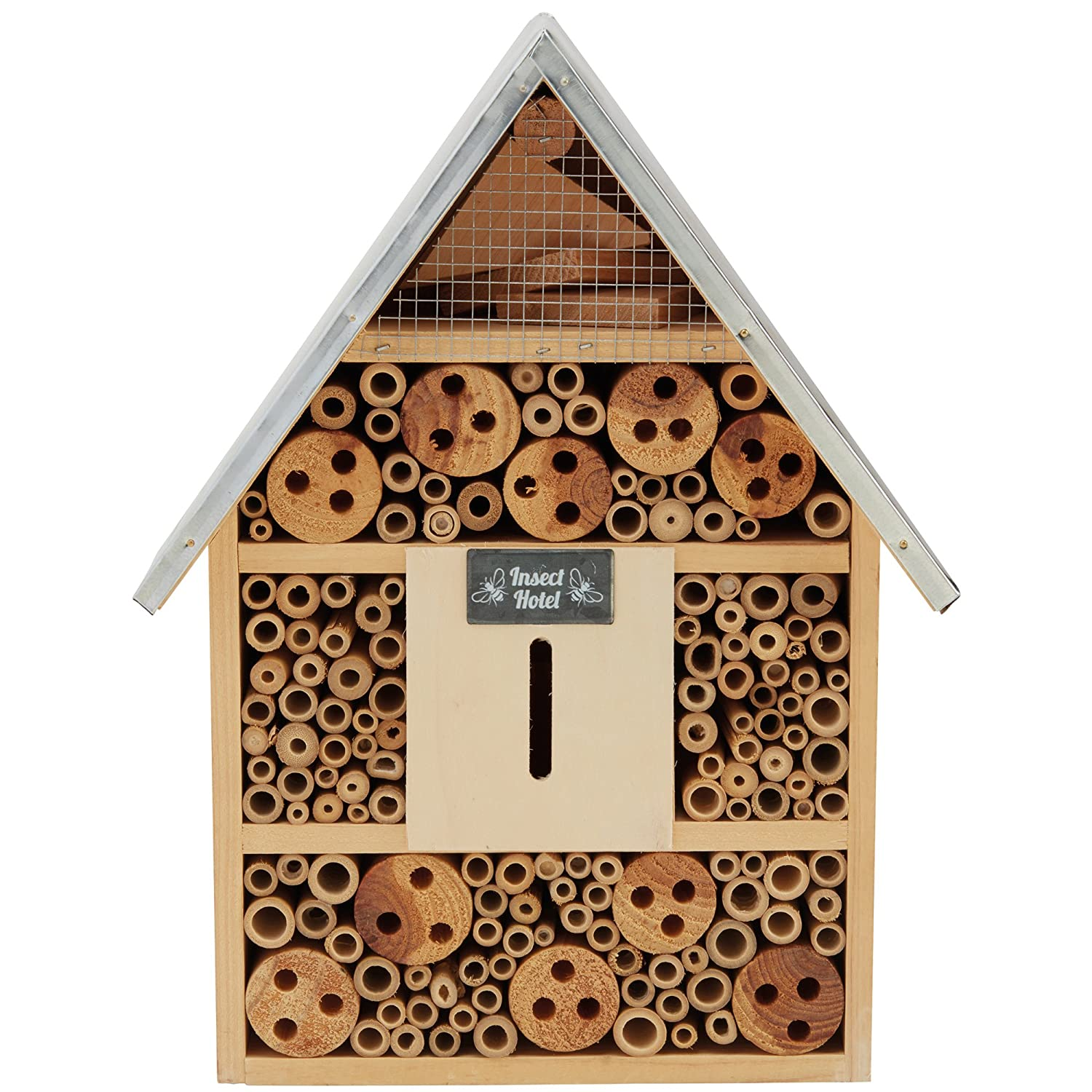 Garden Life Insect Hotel Wooden Bug House Natural Nest Shelter Box Clifford James