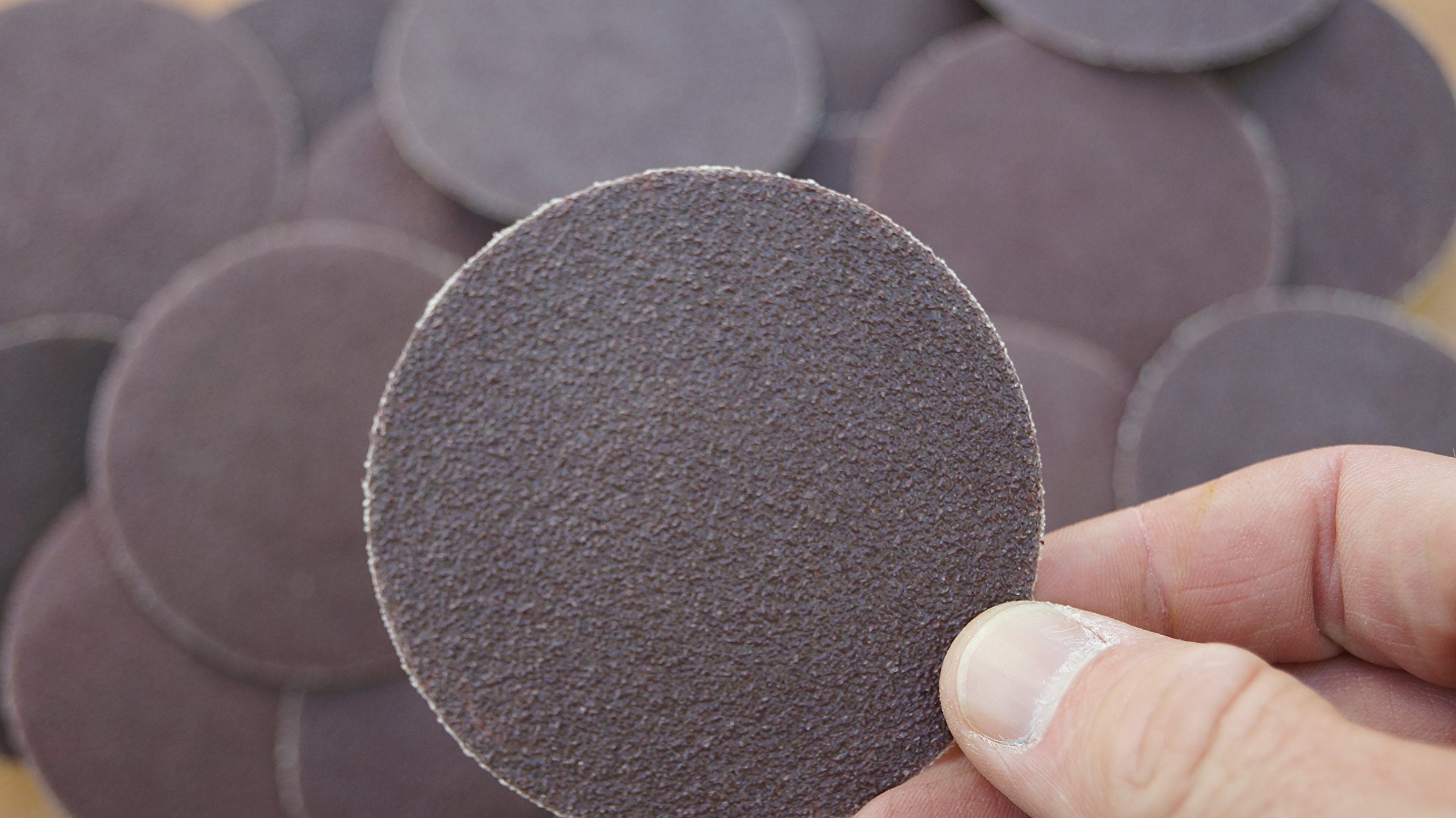25pc 3'' Roloc Discs 80 Grit R Type Sanding Abrasive Roll Lock Medium Coarse Grain by IIT (Image #3)