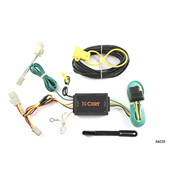 amazon com curt 56035 vehicle side custom 4 pin trailer wiring Toyota Highlander Wiring Harness