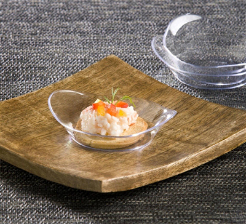 100 Black Plastic Mini Dessert Plates - Small Plates Cocktail Party Plates Relish Dish Sushi Pie Tasting Plates Sample Plates Elegant Plastic Plates Or Candy Appetizer Bowls