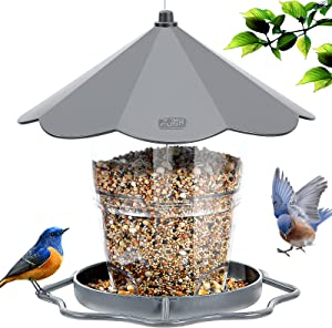 Hanizi Bird Feeders for Outside, Bird Feeder, Wild Bird Seed for Outside Feeders, Squirrel Proof Birds Feeder and Garden Decoration Yard for Bird Watchers