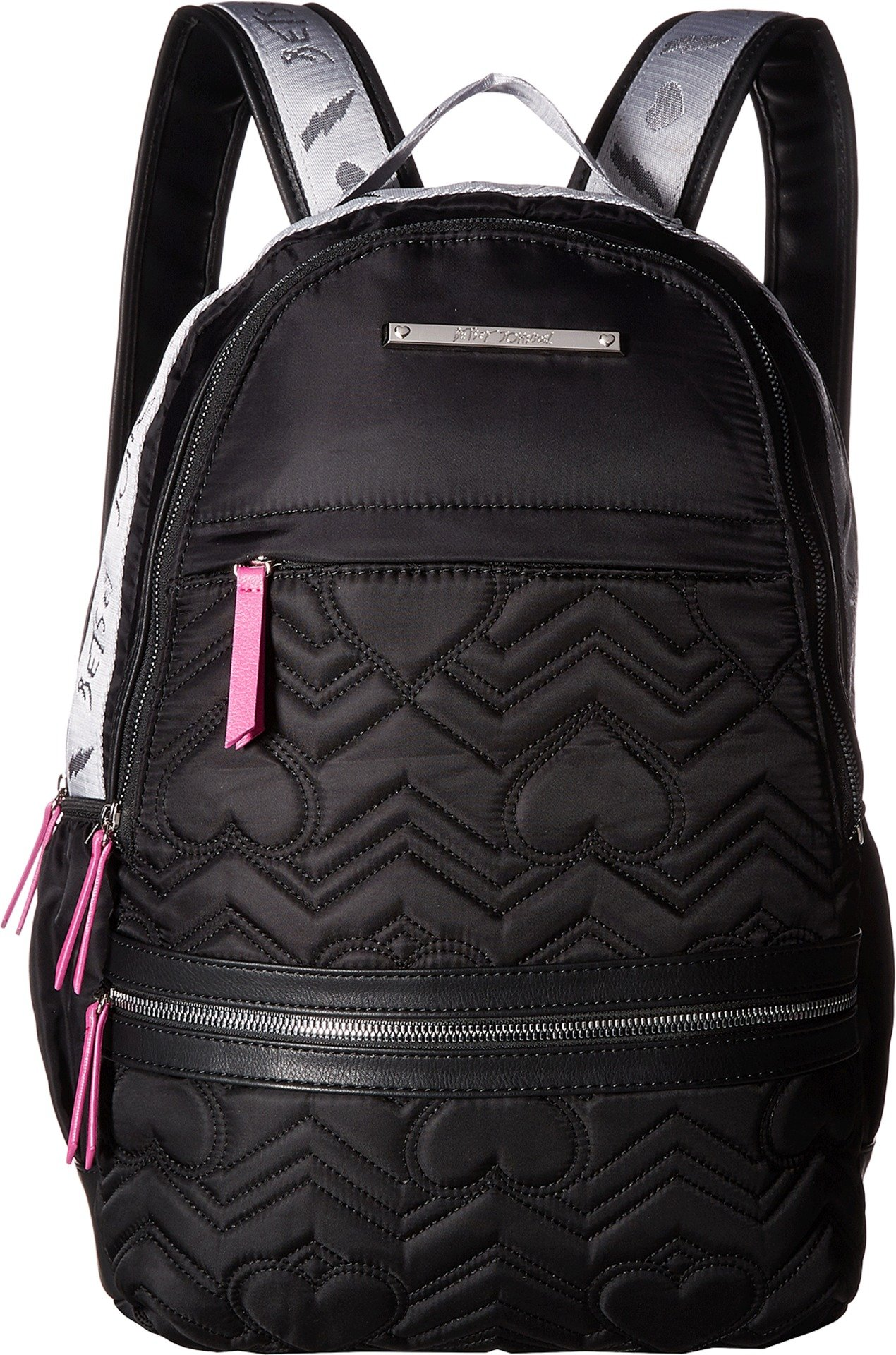 Betsey Johnson Women's Sporty Backpack Black/Fuchsia One Size