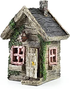 Miniature Fairy House Statue – Garden Décor Accessories Home for Fairies (Fairy Shed)