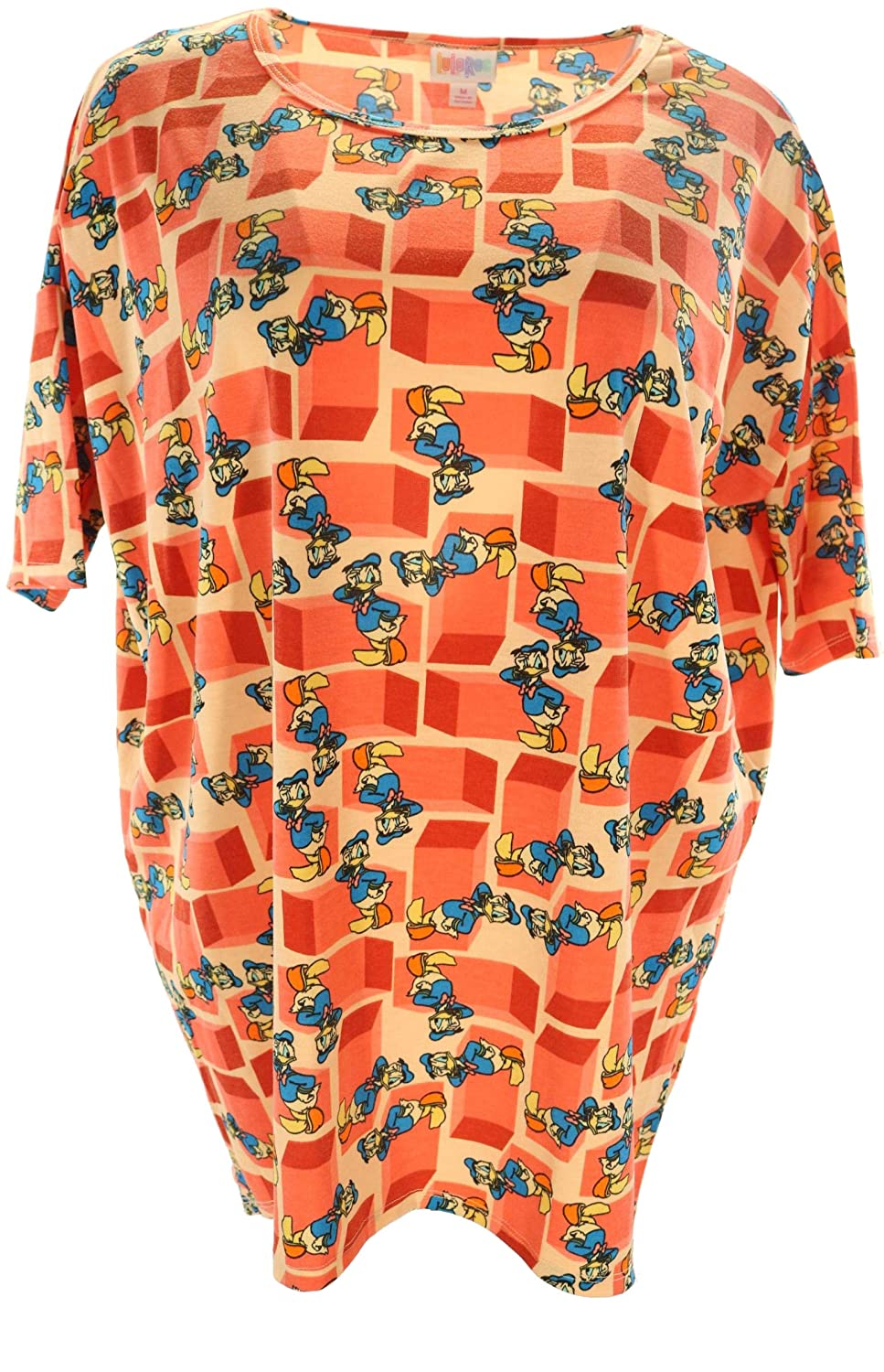 9a8d48f834b1d5 Lularoe Disney Irma (Medium) (Donald on Orange): Amazon.ca: Clothing &  Accessories