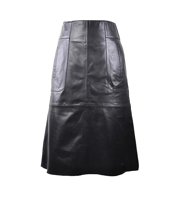 Zerimar Falda Ante | Falda de Cuero | Falda Mujer Casual | Faldas ...