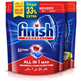 Finish Dishwasher Detergent Tablets All in One, Regular & Lemon, 53+53 (106 tablets), Pack of 2