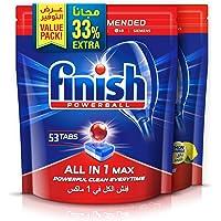 Finish Dishwasher Detergent Tablets All in One, Regular & Lemon, 53+53 (106 tablets), Pack of 2