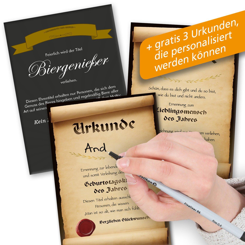 Geburtstagsgeschenke Für Männer Zum 50.   Bier Geschenk Box + Gratis  Geschenkkarten + Bierbewertungsbogen. Henninger + Schlappeseppel +  Köstritzer + .