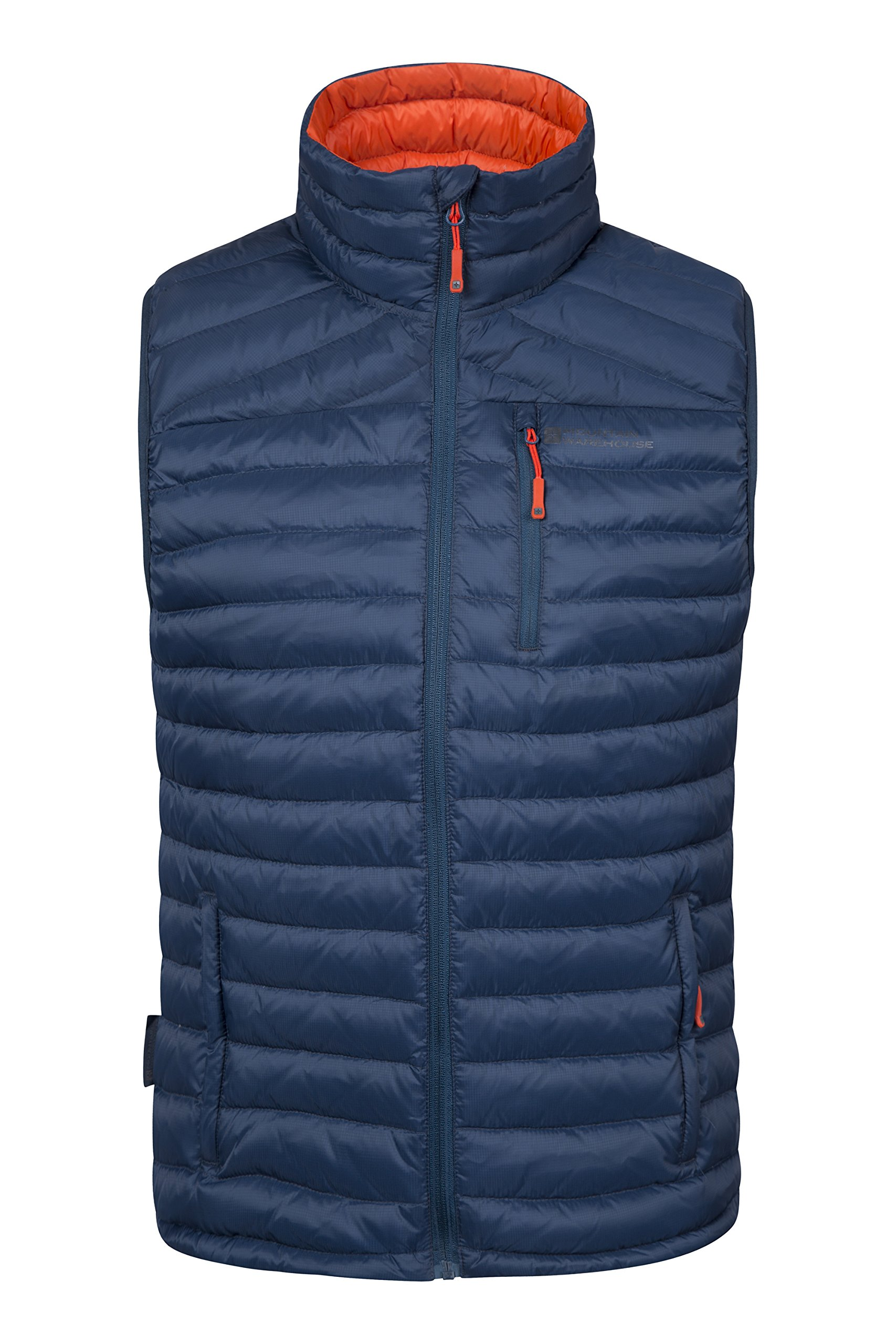 Mountain Warehouse Henry Mens Down Gilet - Padded Mens Summer Jacket Petrol Blue X-Large