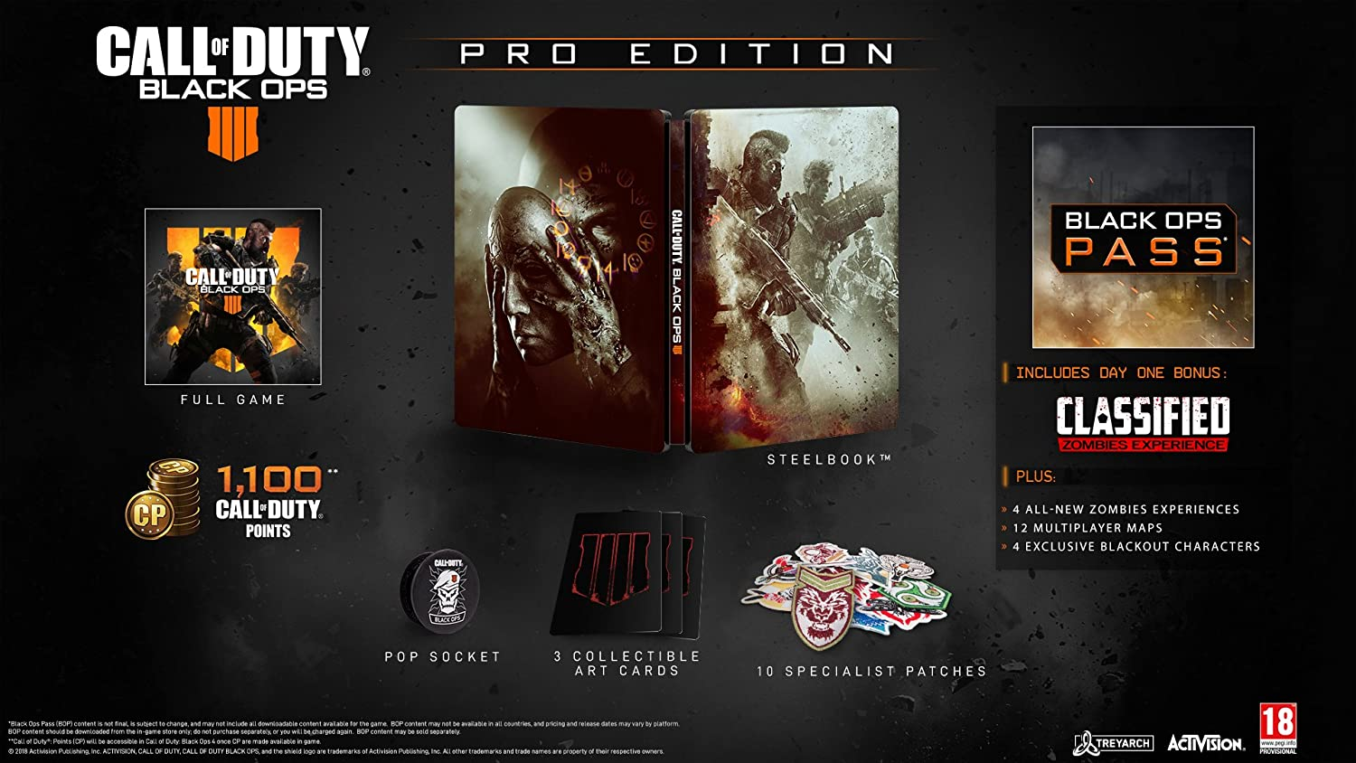 Amazon com: Call of Duty: Black Ops 4 Pro Edition (PS4): PC