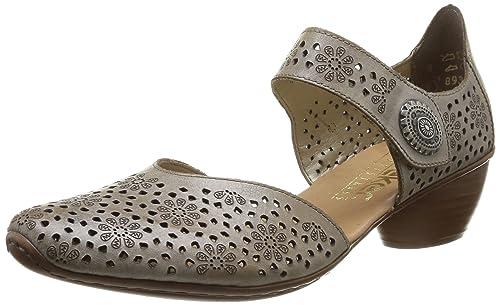 Rieker 4371162 Scarpe con Cinturino alla Caviglia Donna Beige 62 Beige 4