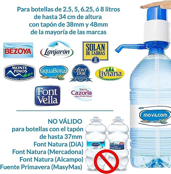 KMT Dispensador Agua para garrafas | Bomba de Agua para Garrafas, Apto para Usar en Agua Embotellada, Antigoteo y Adaptable (9.5 ø X 18.5 cm): Amazon.es: Hogar