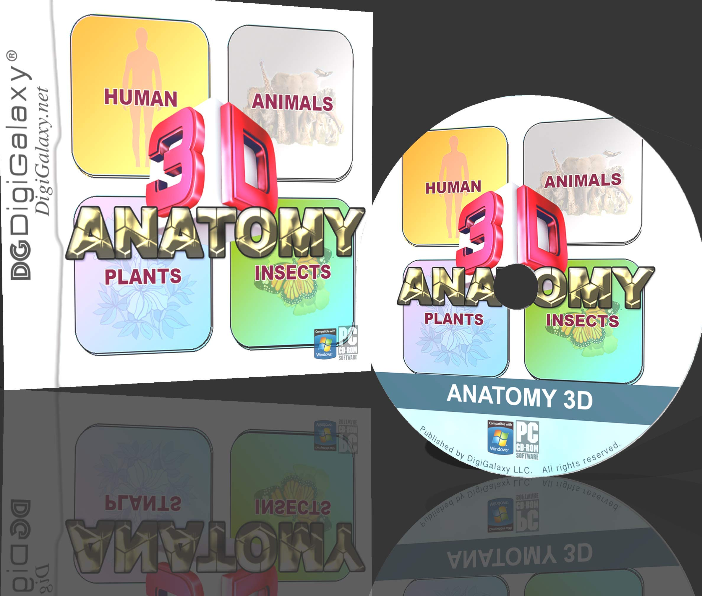 ANATOMY 3D - Human Anatomy, Animal, Plant, Insect (Windows10 compatible) by DigiGalaxy