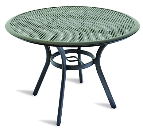 Tavoli Da Giardino In Alluminio Amazon.Tavolo Da Giardino Rotondo In Alluminio Amazon It Giardino E