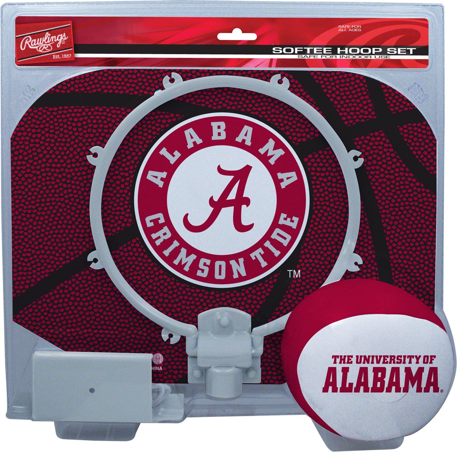 Rawlings NCAA Alabama Crimson Tide Kids Slam Dunk Hoop Set, Red, Small