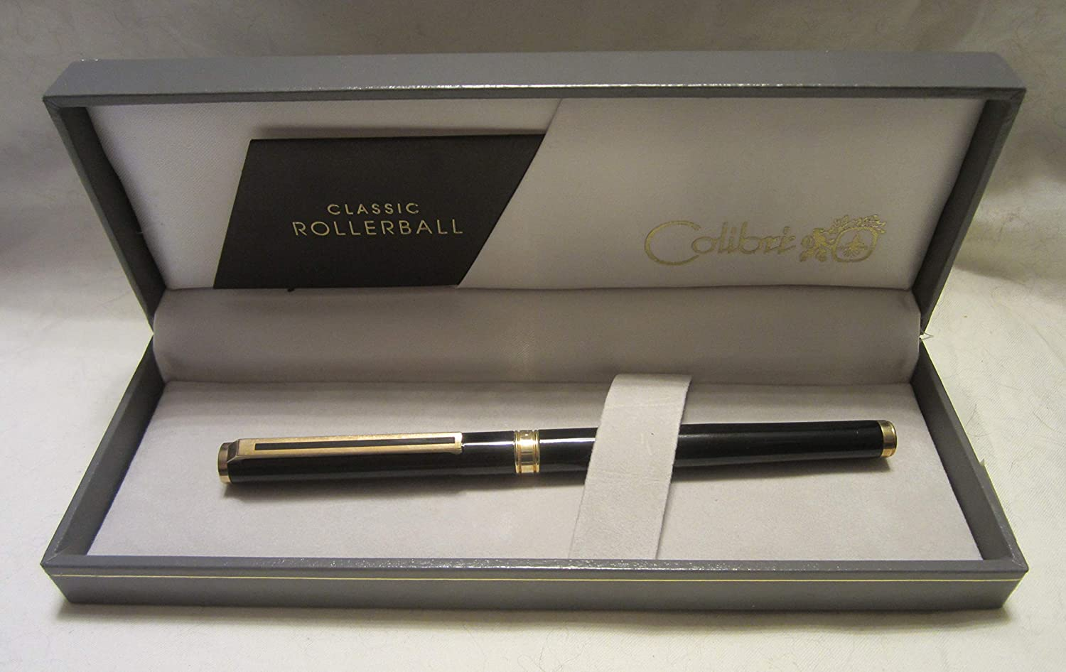 Amazon.com: Colibri Classic Rollerball Pen Black with Gold ...