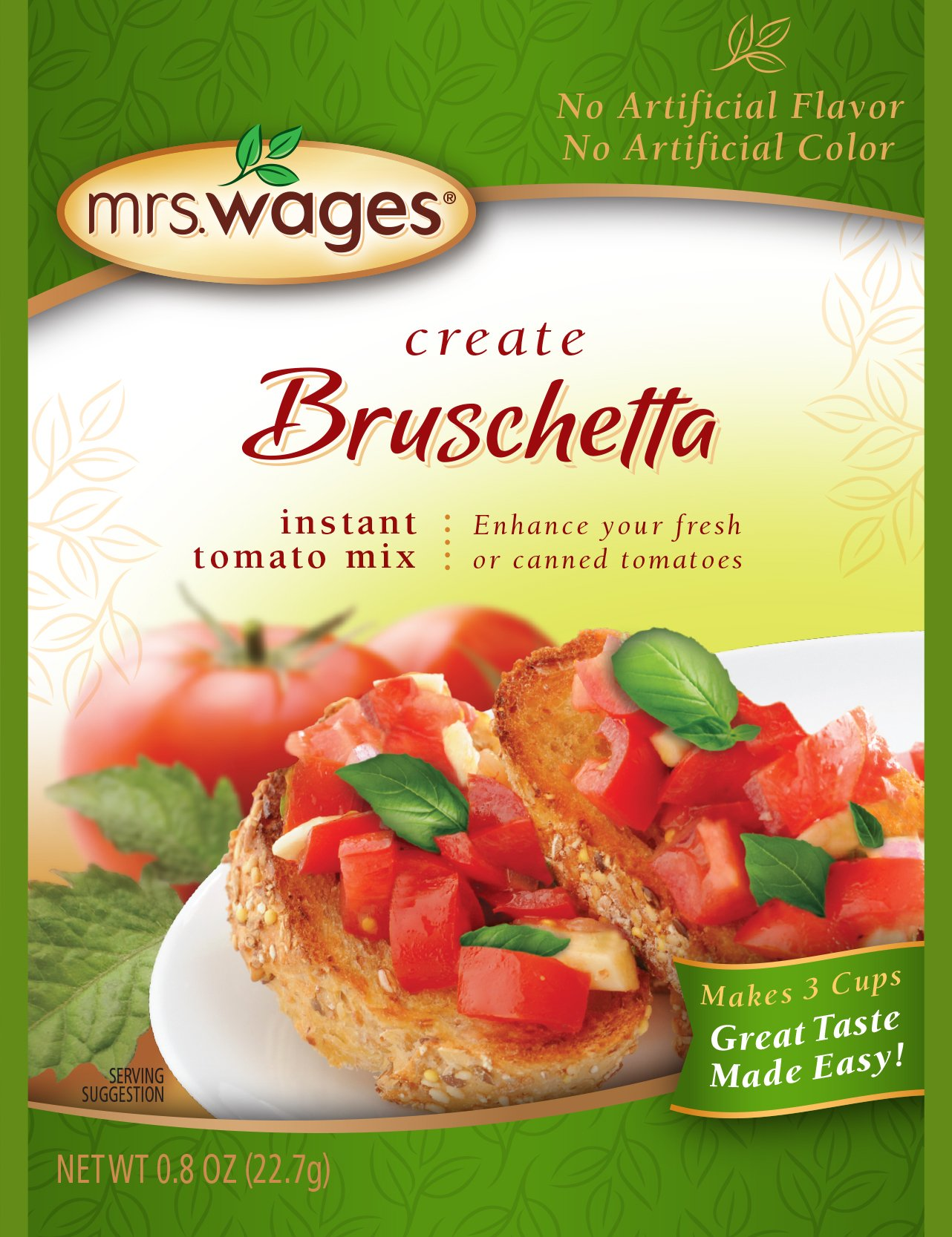Mrs. Wages, Bruschetta, 0.8 Ounce (Pack of 12)
