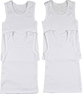 2bbaf6fa34567a NASSE Boys Cotton Super Soft Sleeveless Undershirts Free-Cut Tank Tops  NLB0040F Tops   Tees Clothing