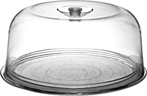 Bormioli Rocco Ginevra Cake Platter With Plastic Dome, Gift Boxed