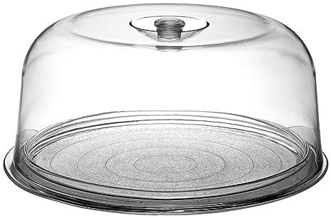 Amazon.com | Bormioli Rocco Ginevra Cake Platter With Plastic Dome ...